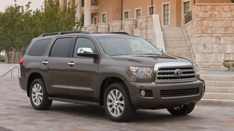 brown toyota sequoia