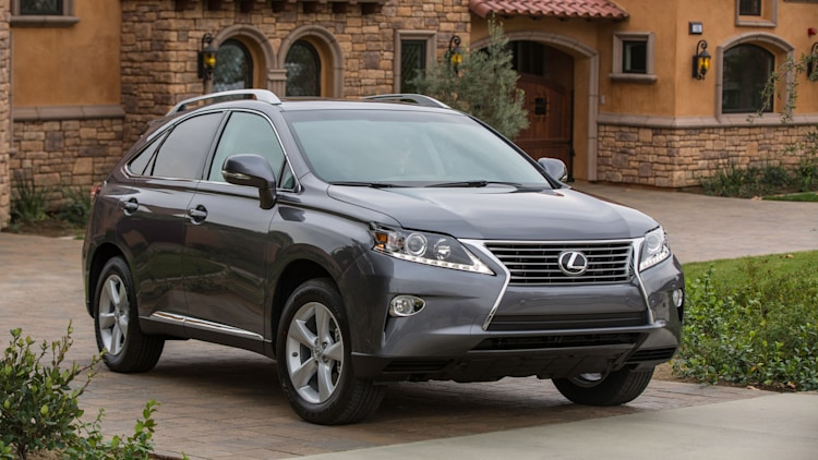Lexus RX crossover in grey