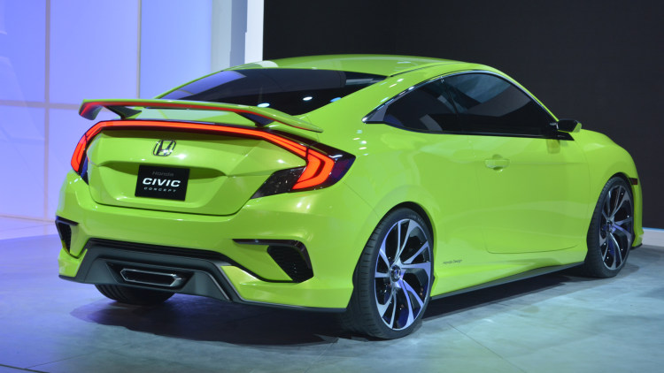 honda civic concept is your average neon green. Black Bedroom Furniture Sets. Home Design Ideas