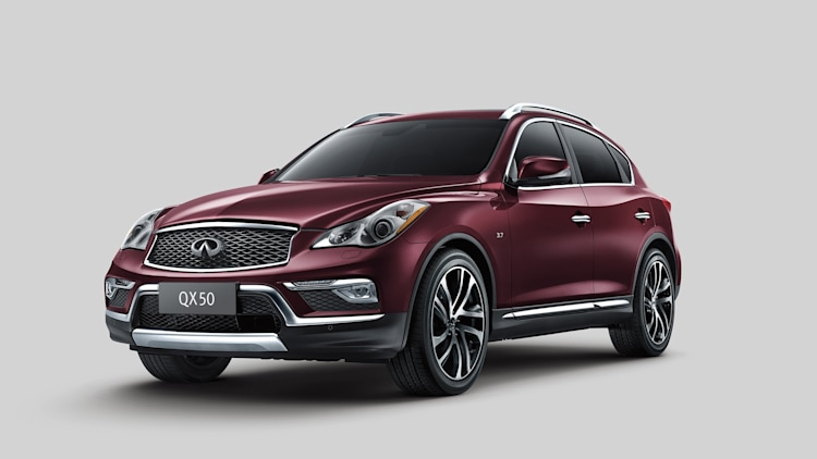 2016 Infiniti QX50 in deep red