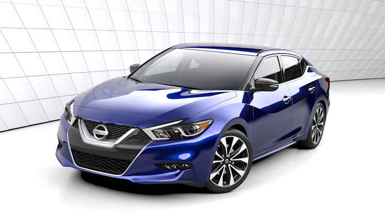 2016 Nissan Maxima sedan in blue