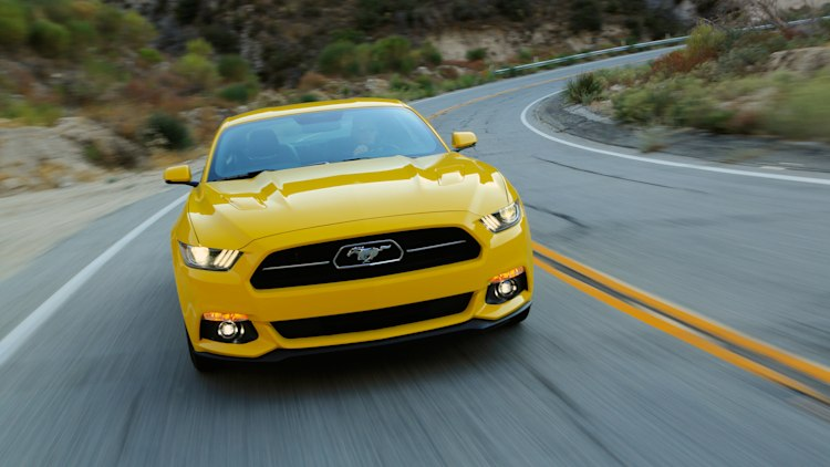 2015 Ford Mustang GT in yellow