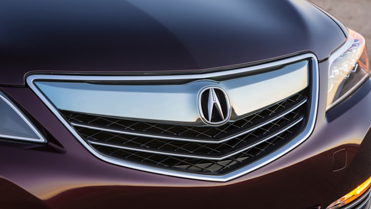 Acura grille and badge