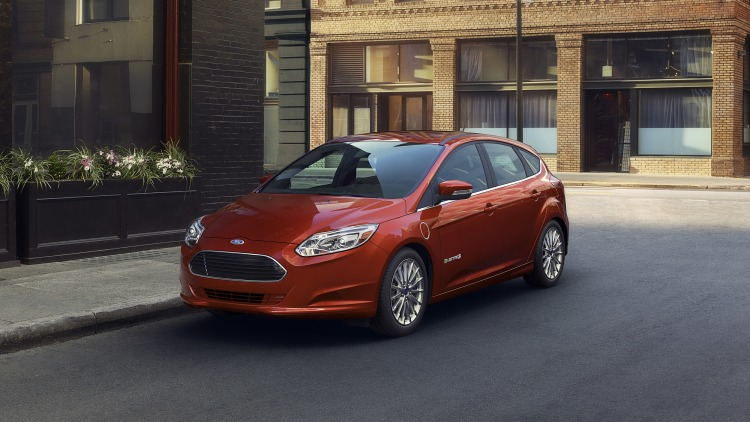 Ford Focus Electric hatchback in red