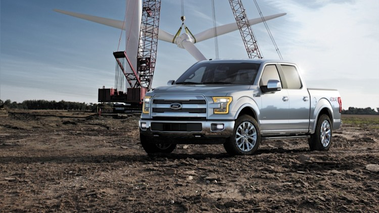 Ford F-150 in silver with windmill