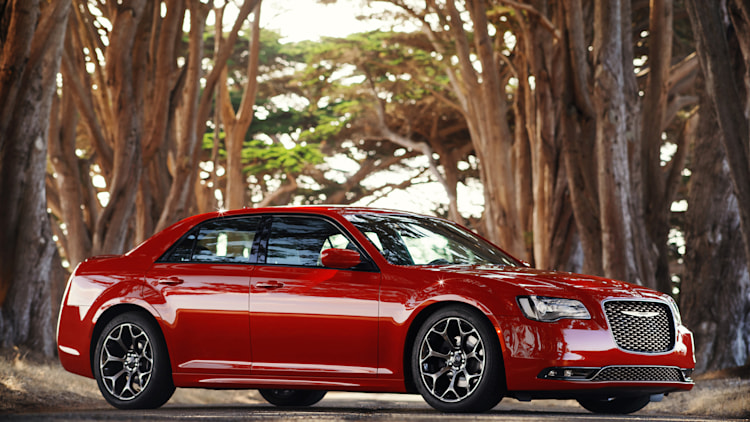 2015 Chrysler 300S AWD in red in the forest