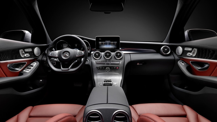 mercedes c-class cabin interior wards