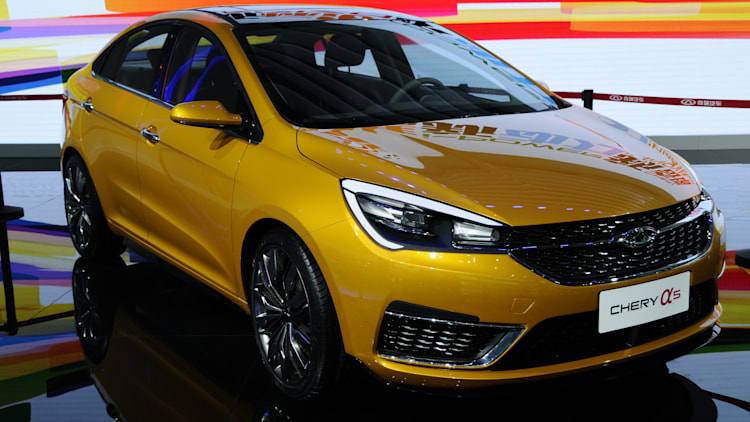 Chery A5 at the Shanghai Motor Show 2015