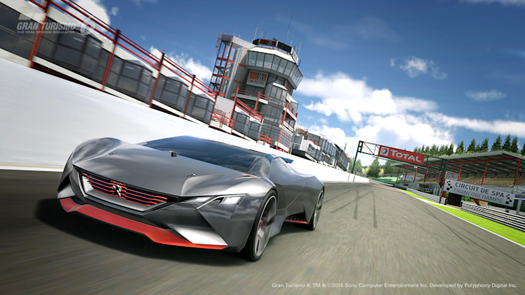 Peugeot Vision Gran Turismo at Spa Francorchamps
