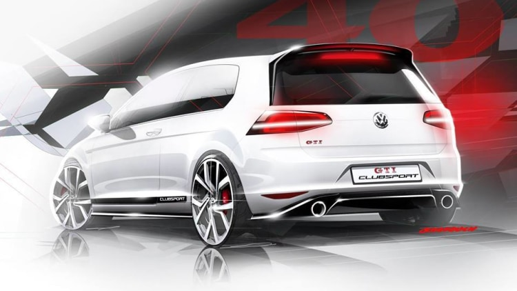 vw gti clubsport concept celebrates model 39 s 40th birthday with 261 hp autoblog. Black Bedroom Furniture Sets. Home Design Ideas