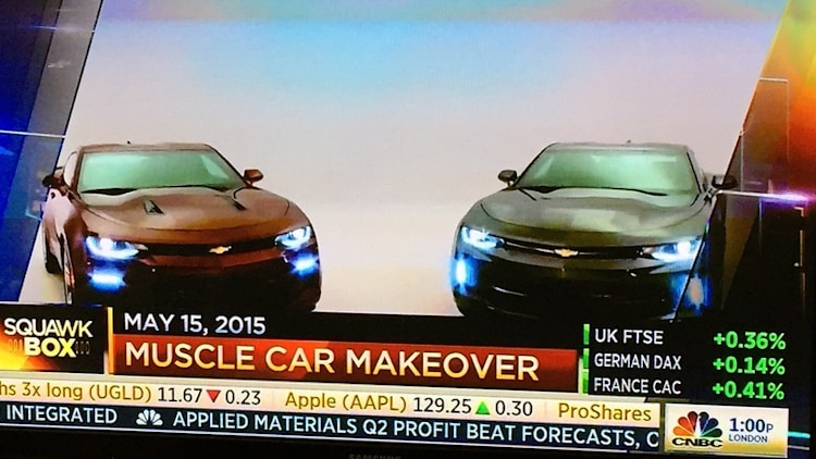 2016 Chevy Camaro leaked images