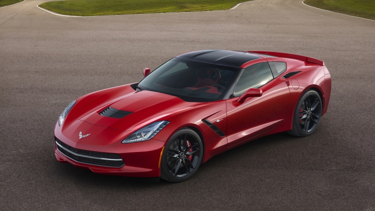 2015 Chevy Corvette Stingray coupe in red