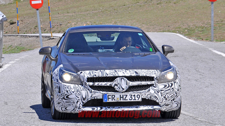 mercedes slc front camouflaged spy shot