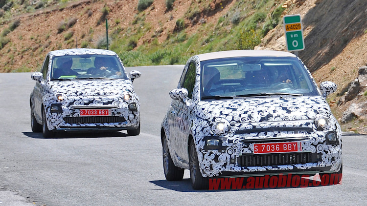 fiat 500 and 500c camouflaged spy shots