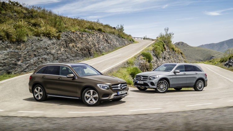 corner mercedes glc 2015 brown gray