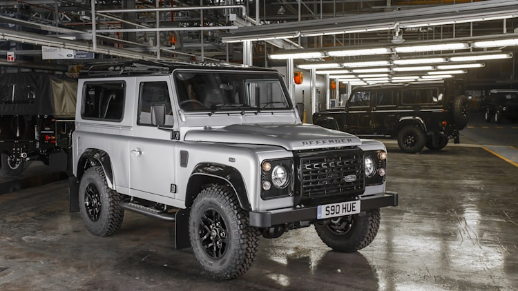 Land Rover Defender 2,000,000 factory front 3/4