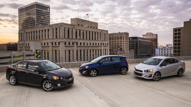 Chevy Sonic sedan and hatchback