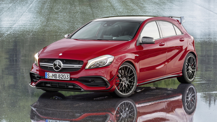 Mercedes-AMG A45 4Matic front three-quarter.