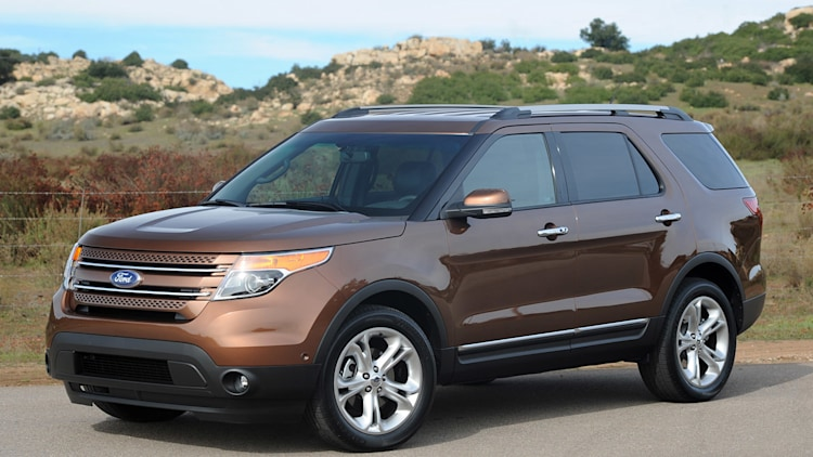 2011 Ford Explorer brown front view desert