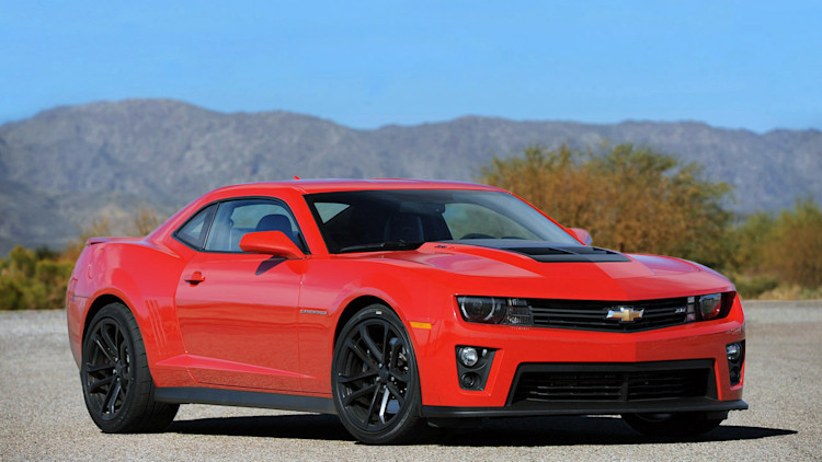2012 Chevy Camaro ZL1 red front mountains