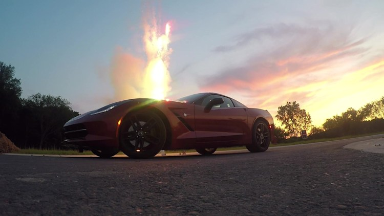 2015 Chevy Corvette with Fireworks | Autoblog Short Cuts
