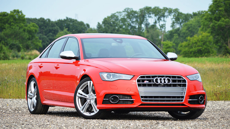 2016 audi s6 red front view