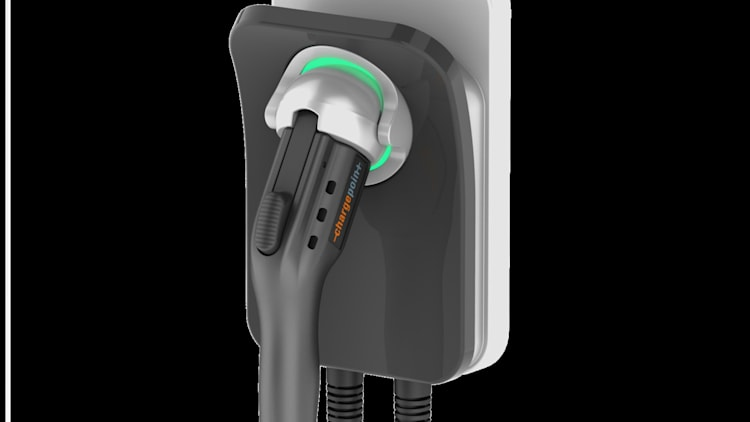 ChargePoint Home Charger right 3/4 view
