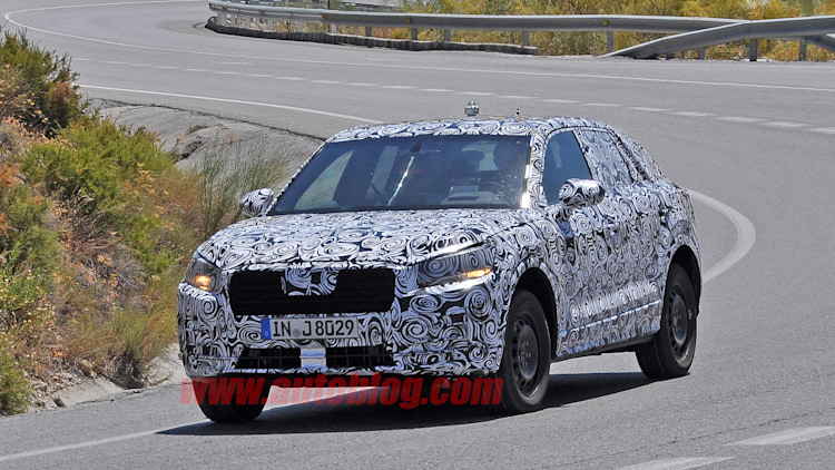 spy photos audi q1 corner camo
