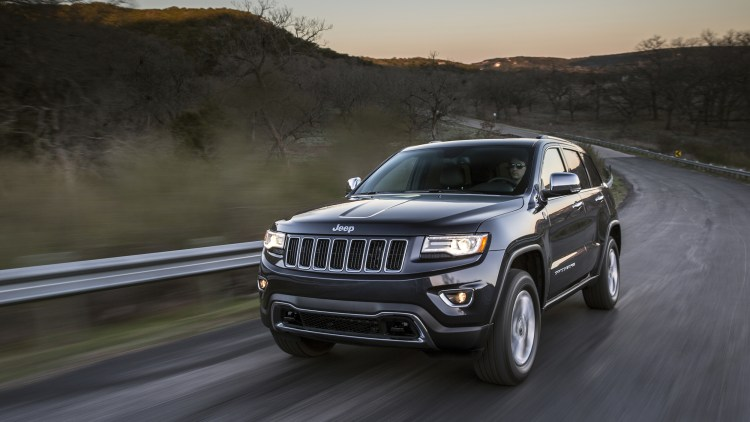 Jeep Grand Cherokee on a twisting road