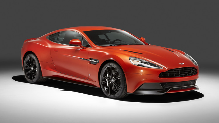 Aston Martin Vanquish in orange