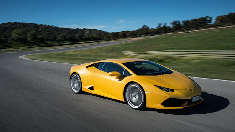 Lamborghini Huracan in yellow