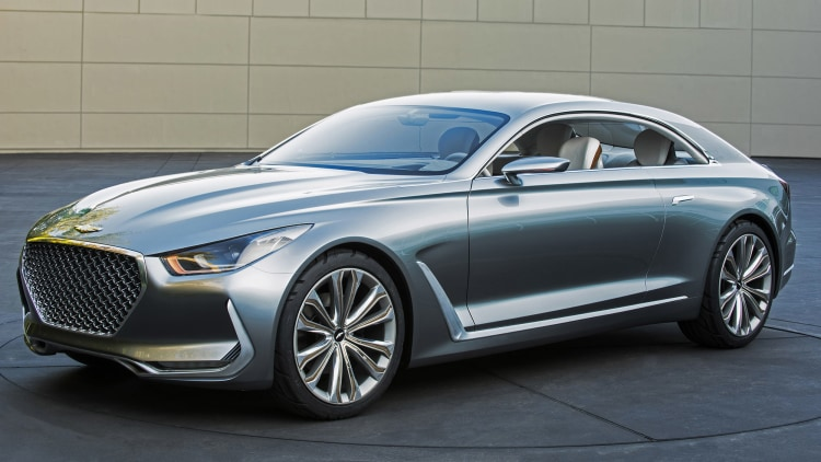 Hyundai Vision G Coupe Concept front 3/4