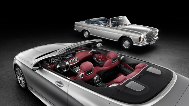 Mercedes releases a photo of the S-Class Cabriolet due for reveal at the 2015 Frankfurt Motor Show.