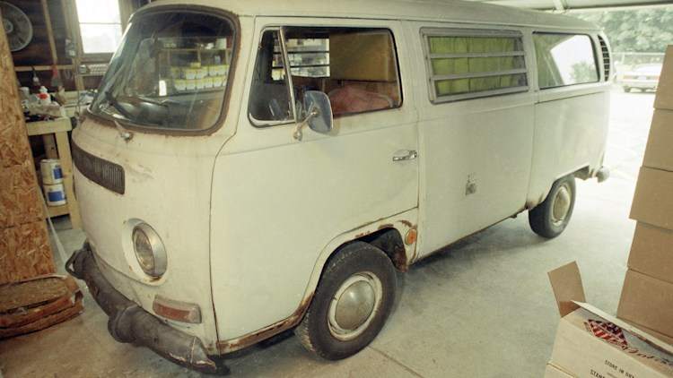 Kevorkian Van in Michigan State Police Garage
