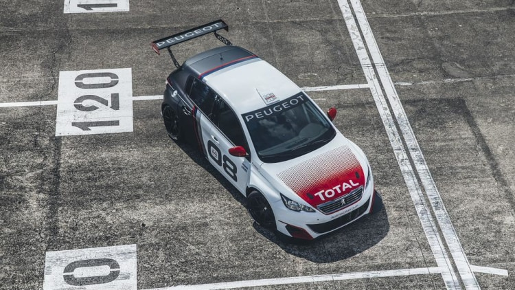 peugeot 308 racing cup turns hot hatch into track machine w video autoblog. Black Bedroom Furniture Sets. Home Design Ideas