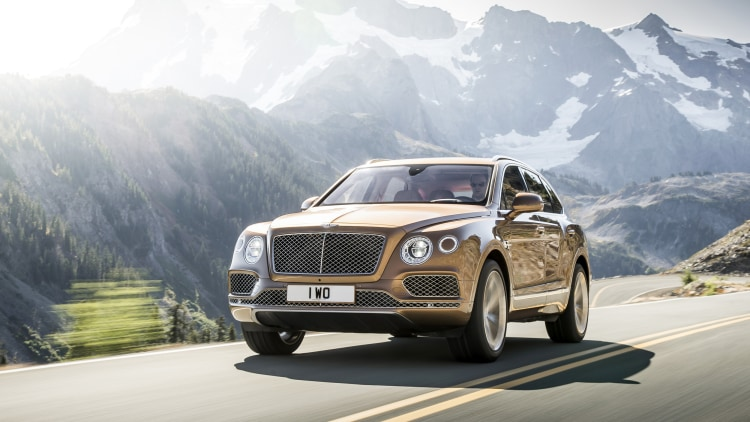Bentley Bentayga road front 3/4