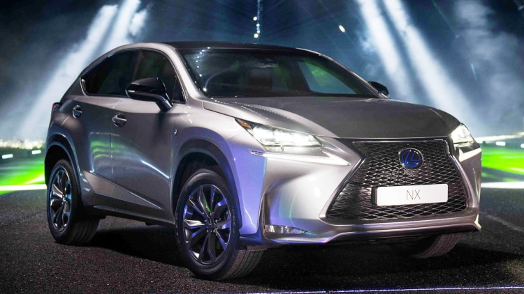 2015 Lexus NX crossover in grey