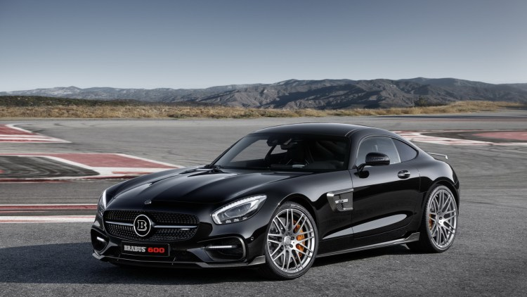 Mercedes-AMG GT S Brabus track front 3/4