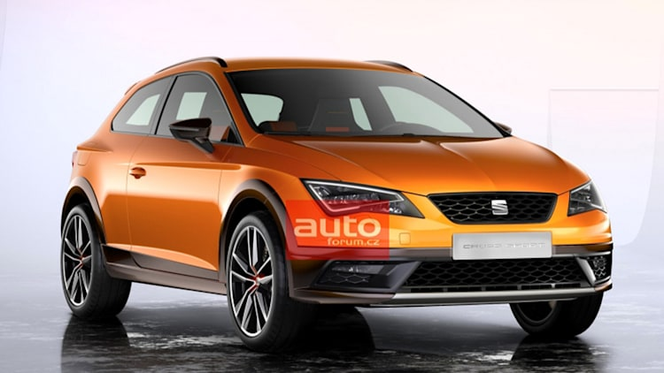 seat leon cross sport leaked orange cuv