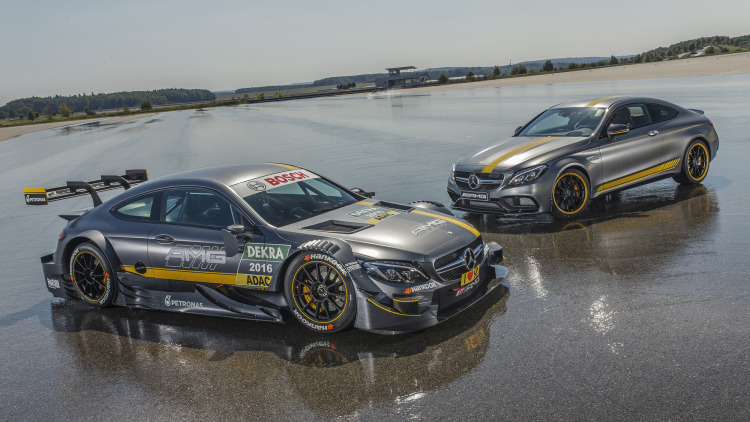 2016 Mercedes-AMG C63 DTM and Edition 1 front 3/4