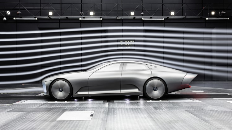 Mercedes-Benz Concept IAA in the wind tunnel