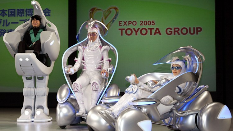 Toyota robots in Japan