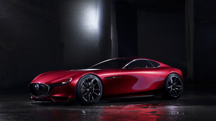 red mazda rx-vision concept