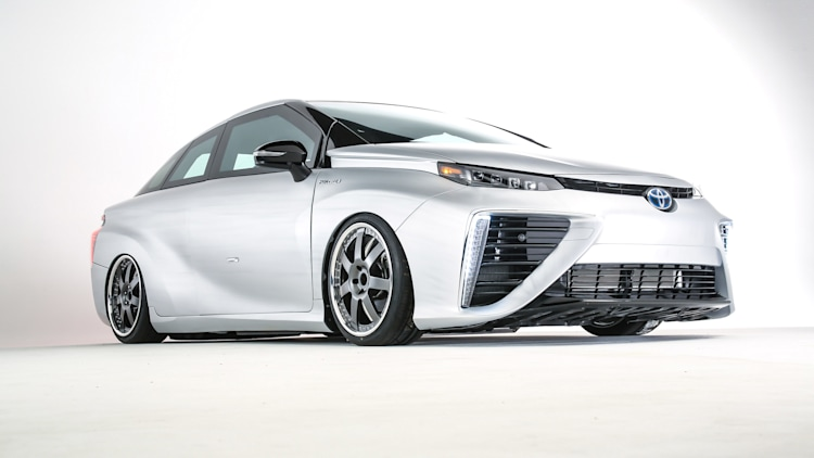 Toyota Mirai Back to the Future Concept front 3/4