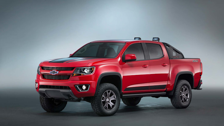 chevrolet colorado z71 trail boss 3.0 sema concept front