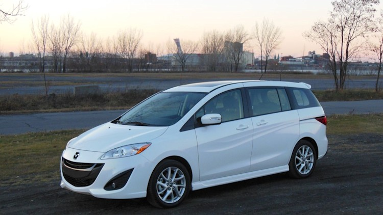 2015 Mazda5 mini minivan in white