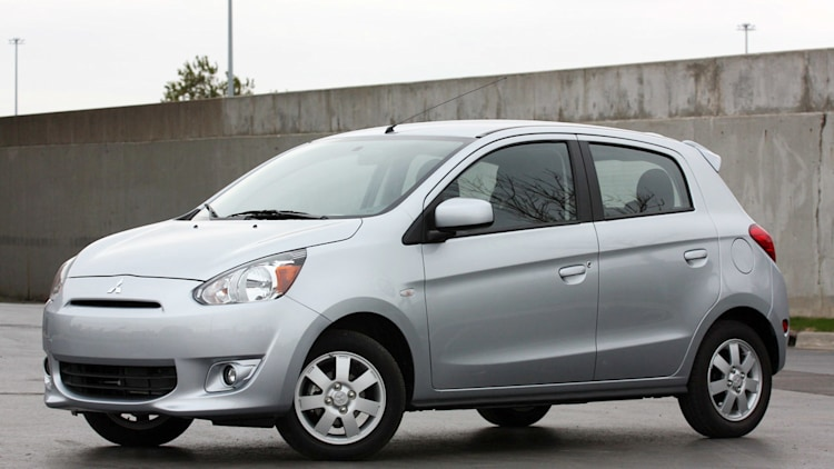 2015 Mitsubishi Mirage hatchback in silver