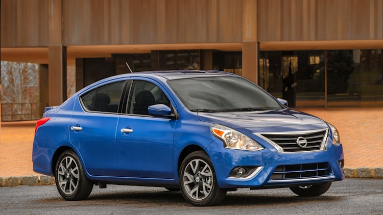 2015 Nissan Versa sedan in blue
