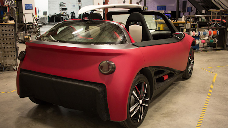 The lm3d swim from local motors is the first 3d printed for Local motors 3d printed car