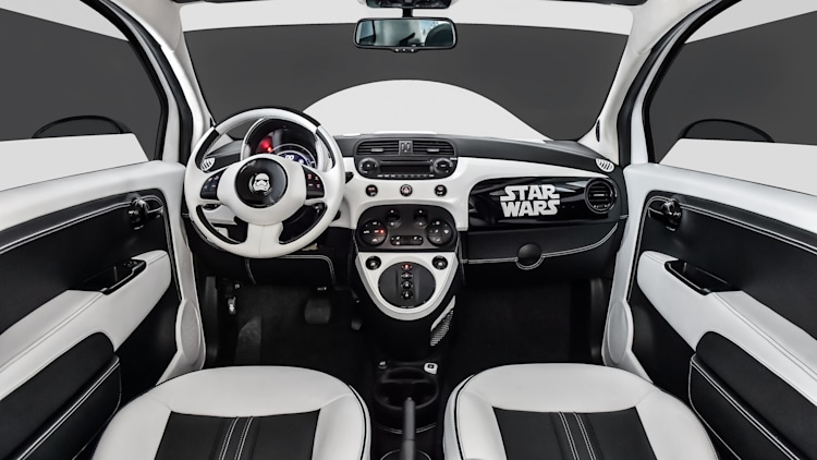 stormtrooper painted fiat 500 brings star wars to la auto. Black Bedroom Furniture Sets. Home Design Ideas
